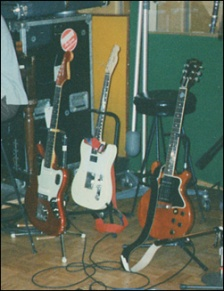 "Ric's CAR Jaguar (used mainly for cleans, most notably on ""Say it Ain't So"") and the Les Paul Special DC. Photo source: Weezerpedia"