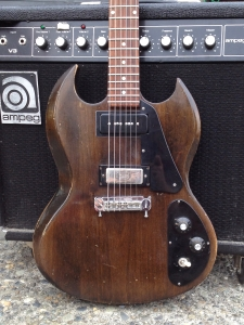 Or take this old Gibson SG-1 that I modified for a neck pickup for a customer. Neither desirable nor rare, these guitars are ripe for mods.