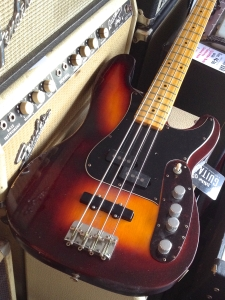 A modded '70s Telecaster bass used by studio musician Buell Neidlinger.