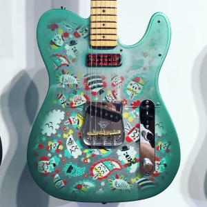 The Paul Frank Telecaster is so wacky. I love it.